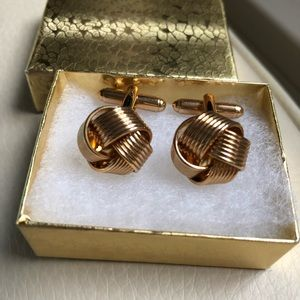 Sophisticated Gold Tone Cuff Links